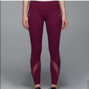 Lululemon Maroon Mesh 7/8 Pants